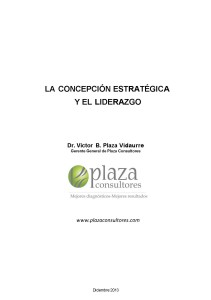 La Concepción Estratégica y el Liderazgo